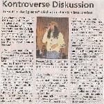 Kontroverse Diskussion